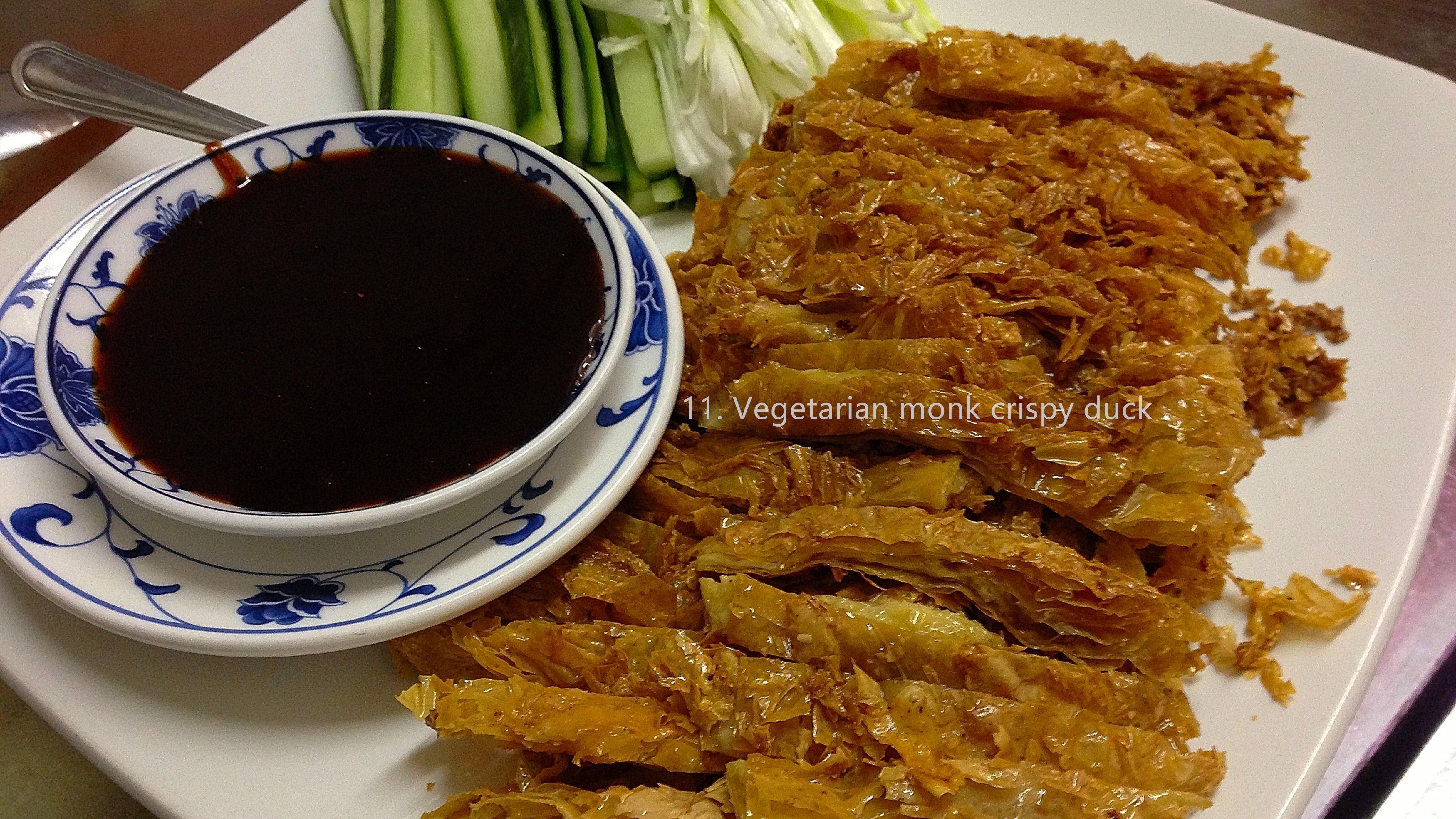 Vegetarian monk crispy duck