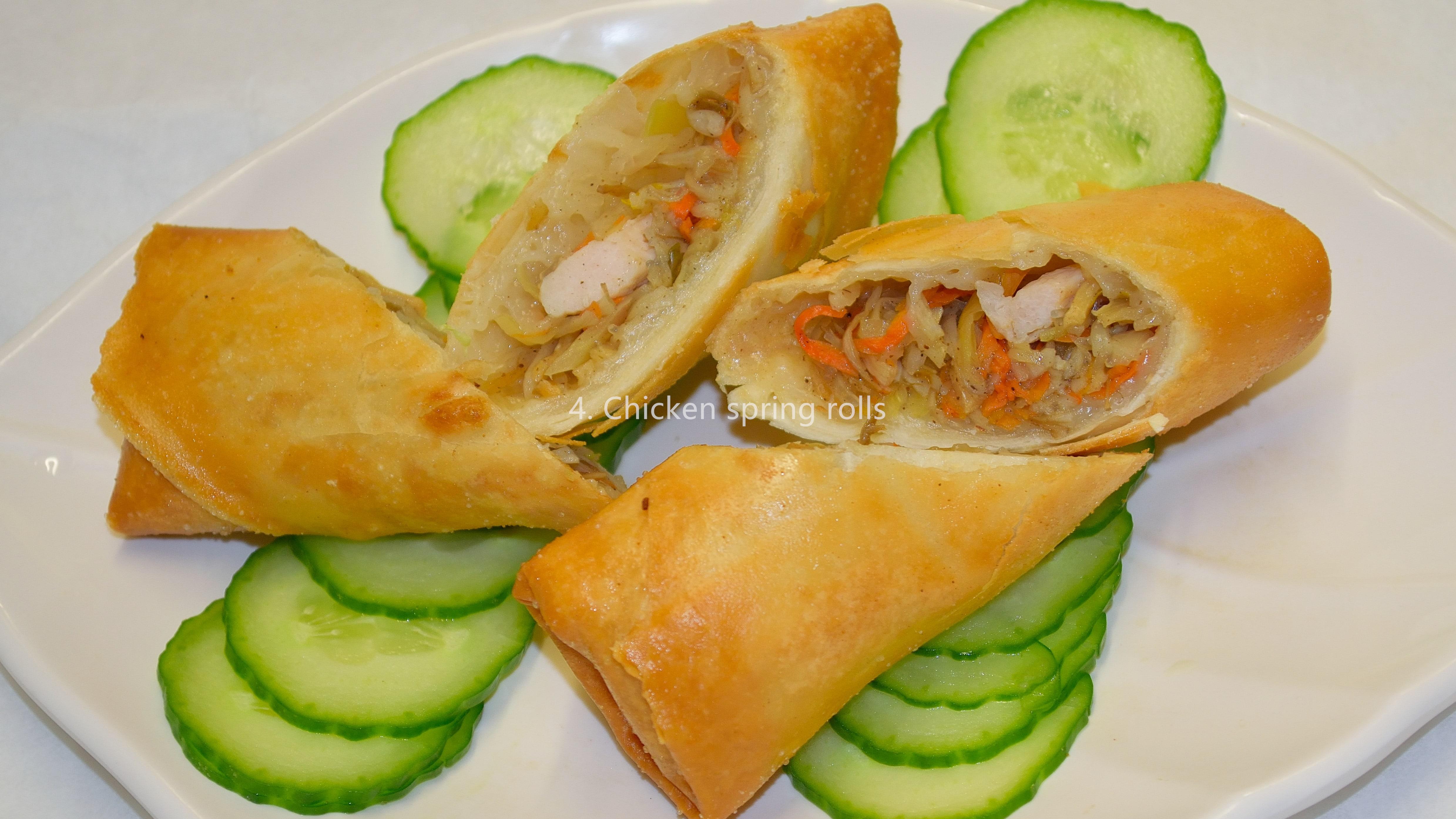 Vegetarian mini spring rolls (8) 小斋春卷