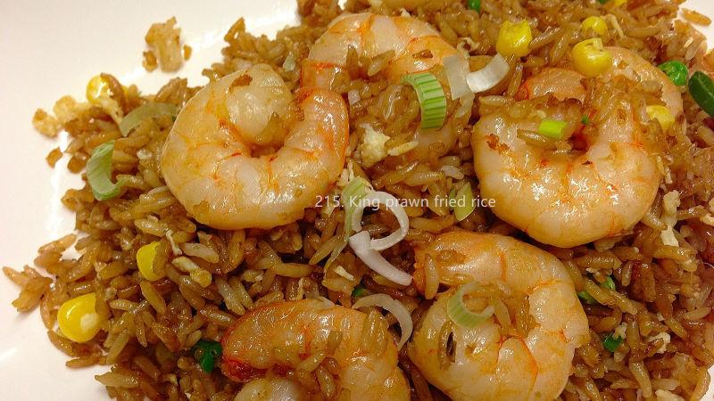 King prawn fried rice