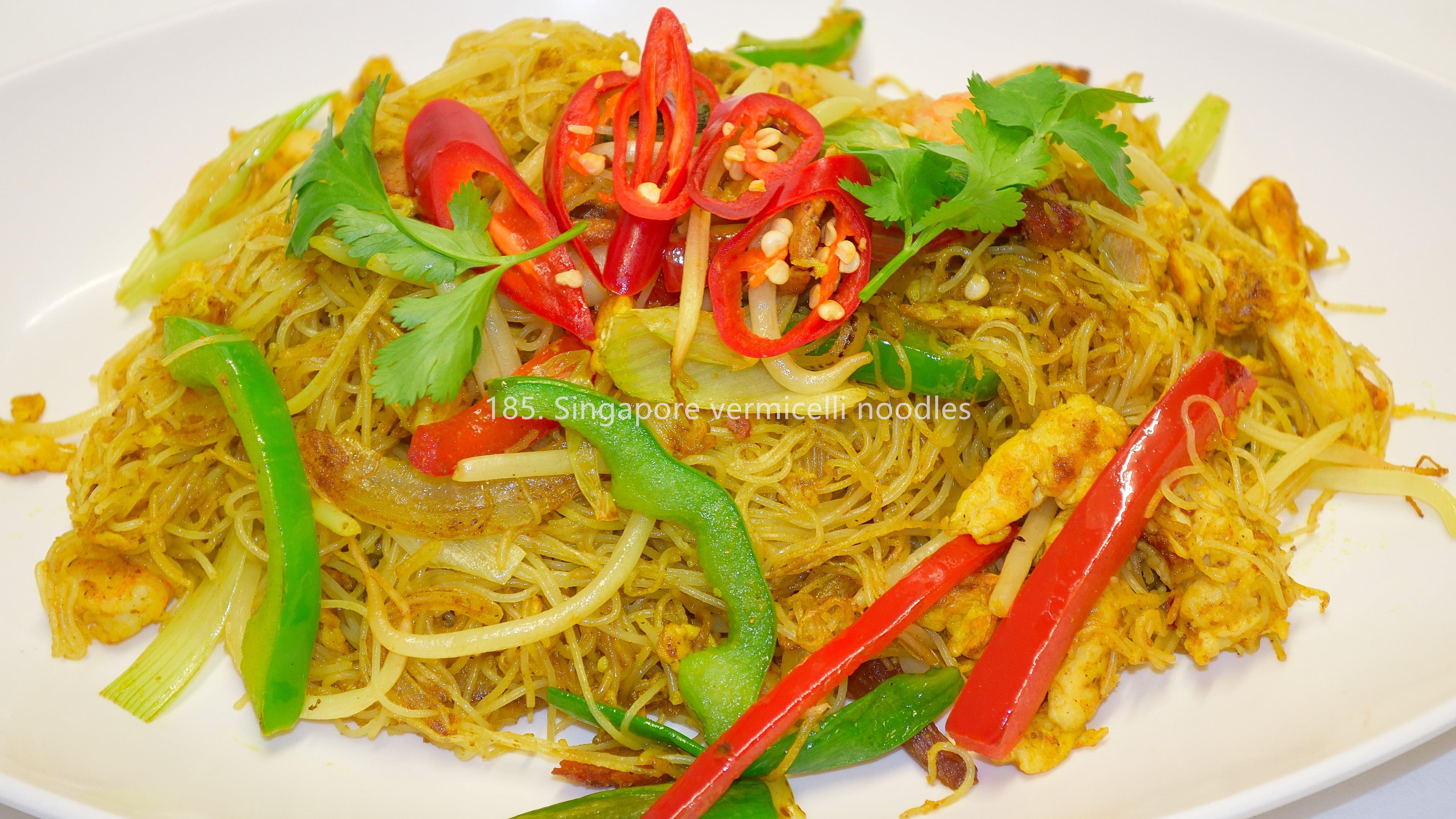 Singapore rice vermicelli noodles