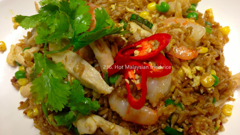 Hot Malaysian fried rice