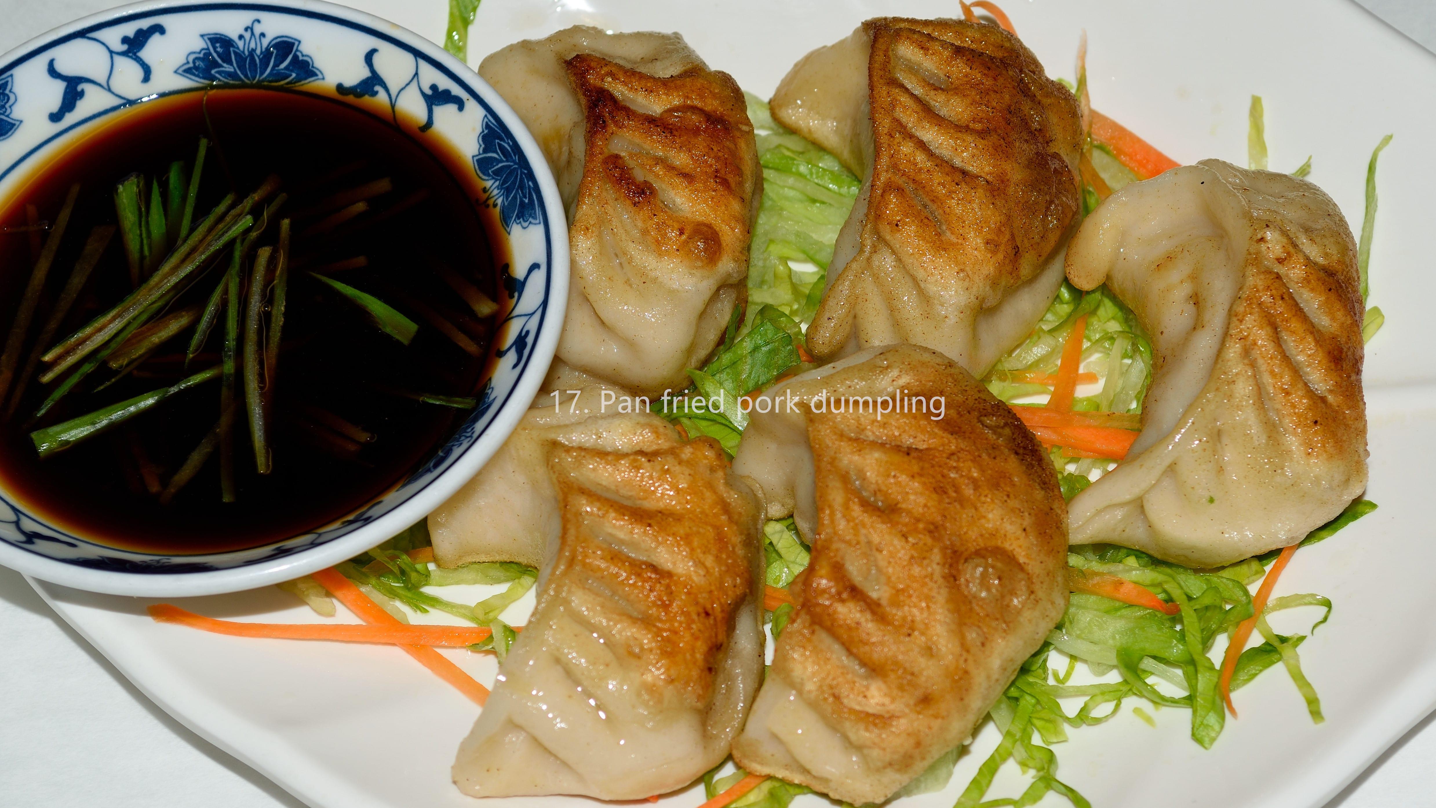 Pan fried pork dumpling